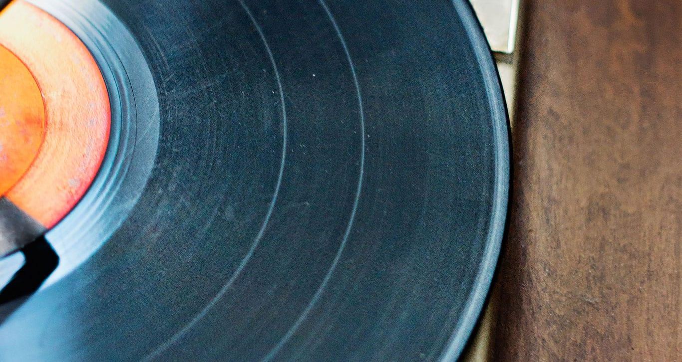 Vinyl Record close up