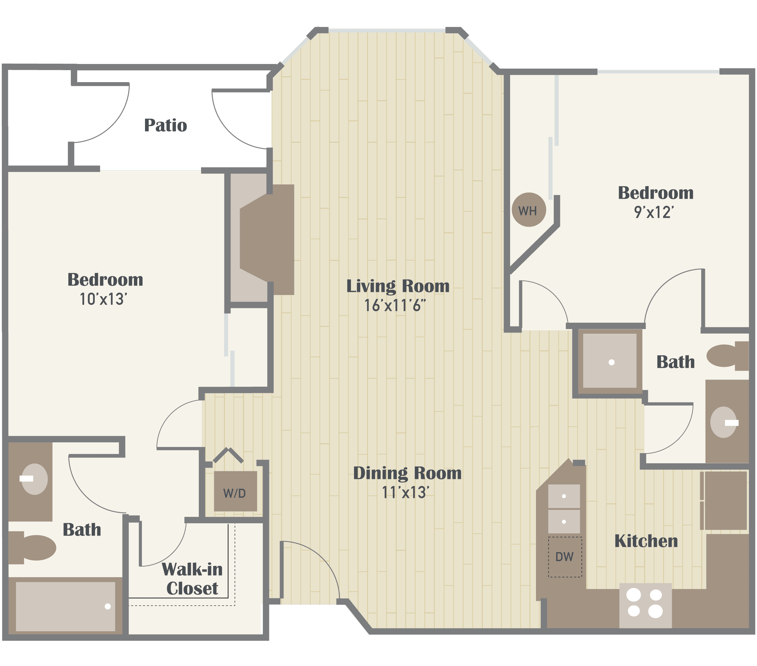 Haller Post Apartments two bedroom floor plan