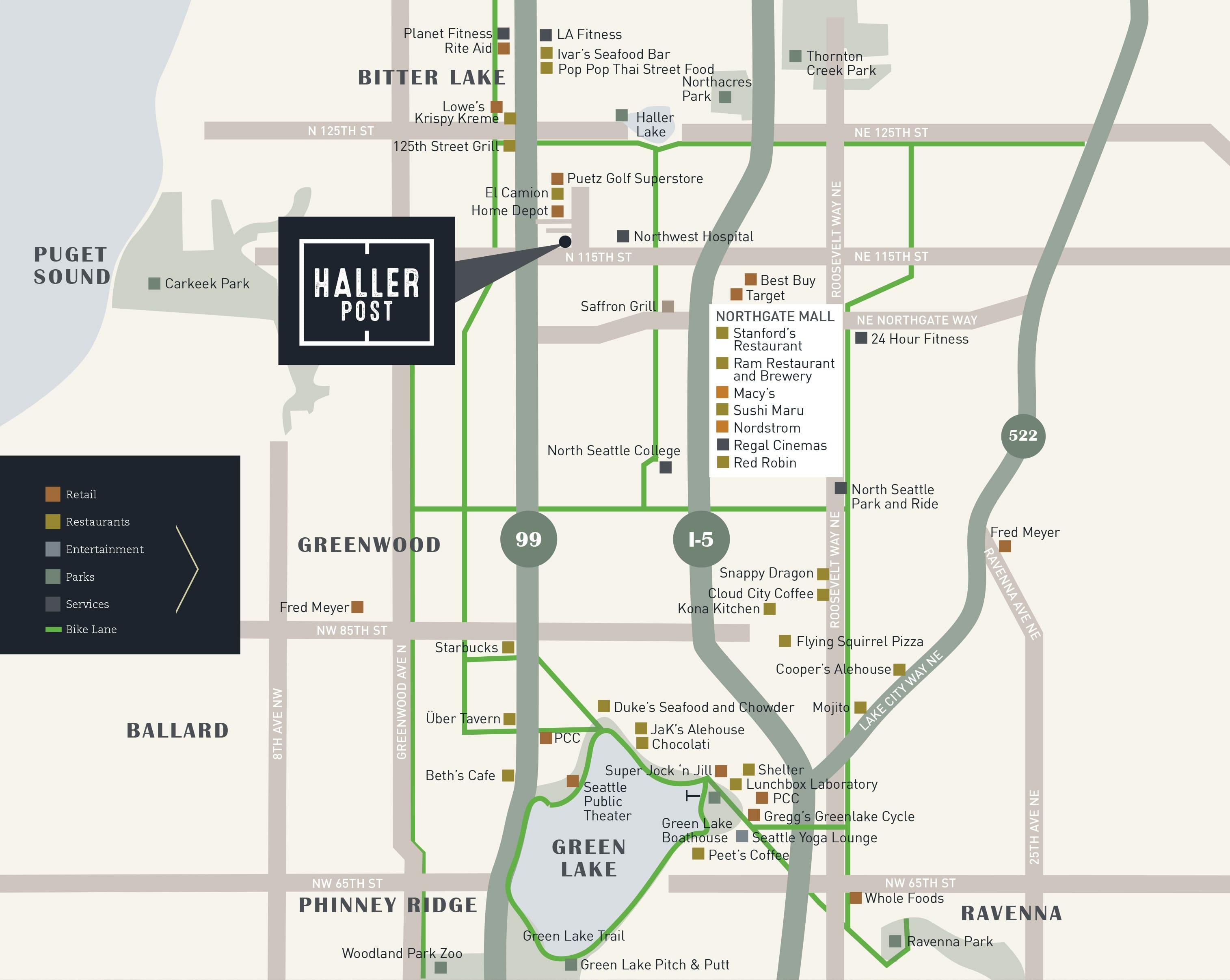Haller Post map location.