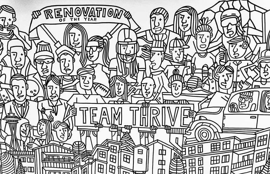 Team Thrive mural
