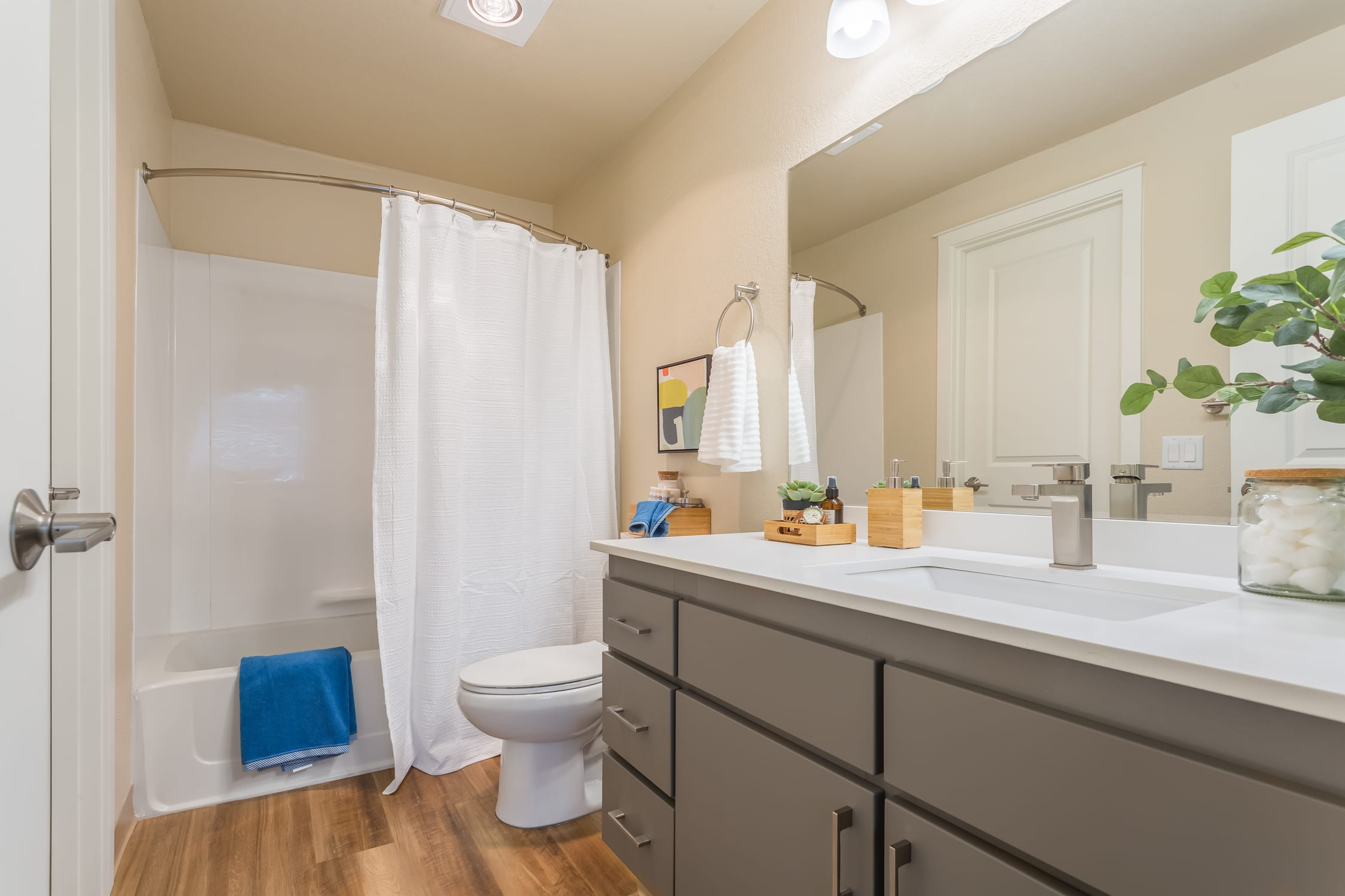 Haller Post Apartments Bathroom features a clean, modern look.