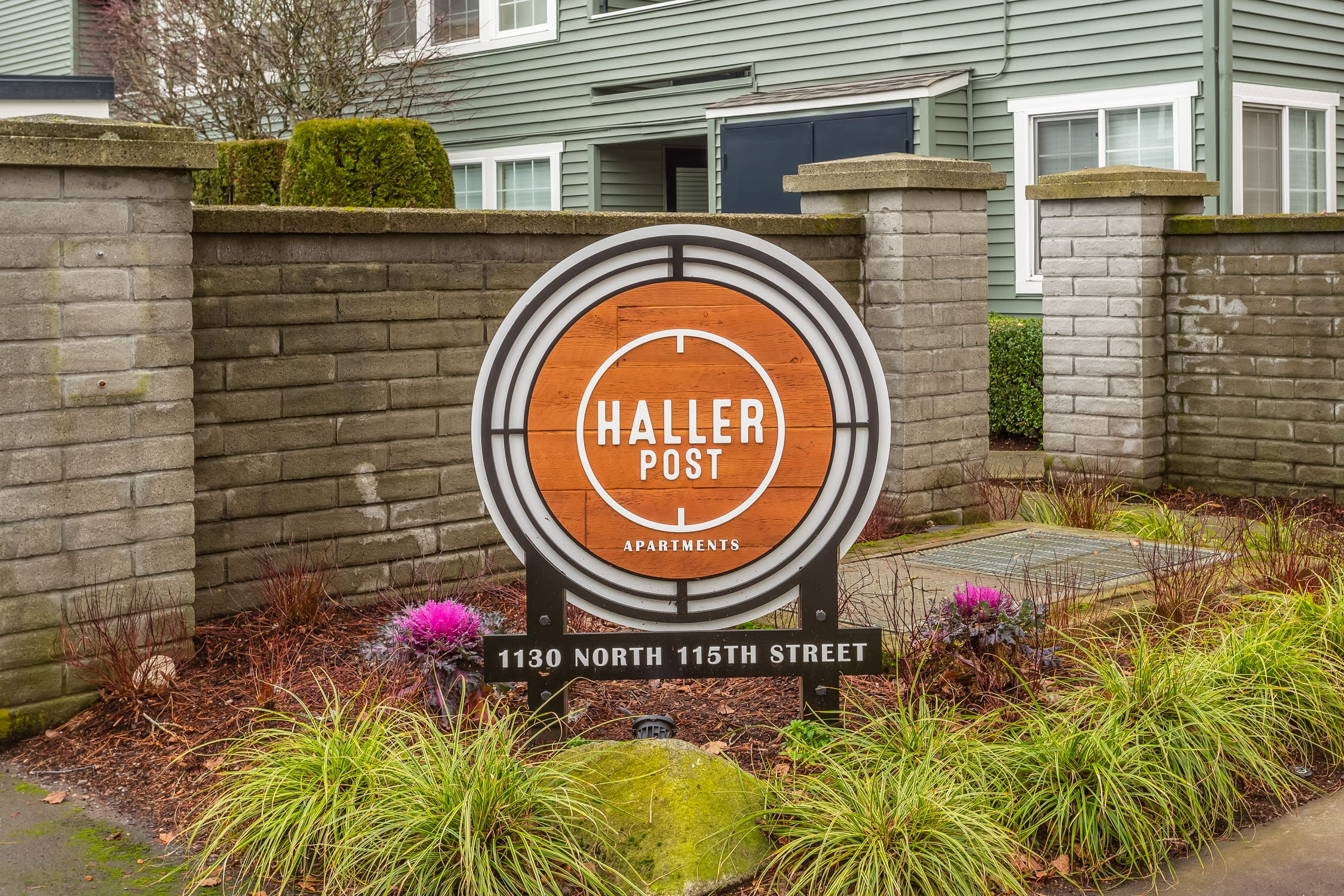 The Haller Post Apartments Address Marker at Haller Post Apartments